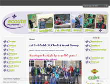 Tablet Preview of lichfieldscouts.co.uk